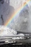 Rainbow over Skogarfoss Waterfall Iceland Fine Art Print