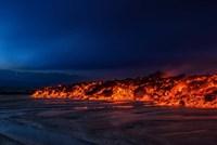 Glowing Lava, Iceland Fine Art Print