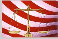 Scales of Justice American Flag Fine Art Print