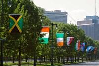 National Flags, Philadelphia, Pennsylvania Fine Art Print