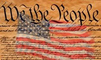 Constitution and U.S. Flag Fine Art Print