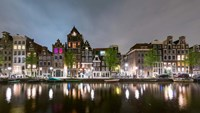 Herengracht in Central Canal Ring Grachtengordel, North Holland, Netherlands Fine Art Print