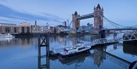 St. Katharine Pier and Tower Bridge, Thames River, London, England Fine Art Print