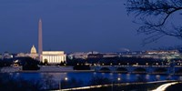 Washington Monument, Lincoln Memorial, Capitol Building, Washington DC Fine Art Print