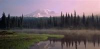 Mist over Mount Rainier National Park, Washington Fine Art Print