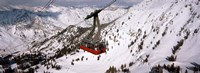 Ride over Snowbird Ski Resort, Utah Fine Art Print