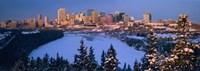 Skyline and the North Saskatchewan Rive, Edmonton, Alberta, Canada Fine Art Print