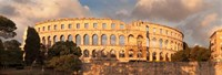 Roman amphitheater at sunset, Pula, Istria, Croatia Fine Art Print