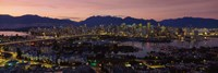 Vancouver at Dusk, British Columbia, Canada Fine Art Print