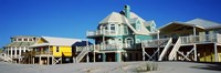 Beach Front Houses, Gulf Shores, Baldwin County, Alabama Fine Art Print