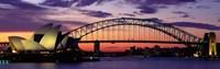 Sydney Harbor Bridge At Sunset,  Australia Framed Print