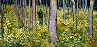 Undergrowth with Two Figures, 1890 Fine Art Print