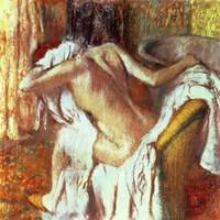 Woman drying herself Fine Art Print