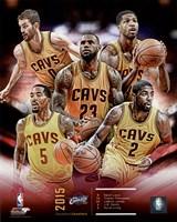 Cleveland Cavaliers 2015-16 Team Composite Fine Art Print