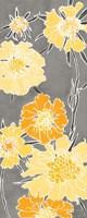 Cloisonne Beauty I Gray Framed Print