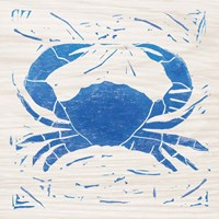Sea Creature Crab Blue Fine Art Print