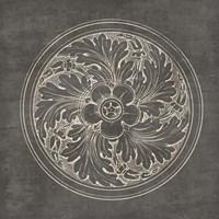 Rosette II Gray Fine Art Print