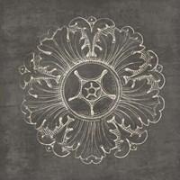 Rosette VI Gray Fine Art Print