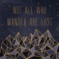 Written in the Stars IV Framed Print