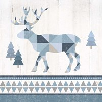 Nordic Geo Lodge Deer IV Fine Art Print