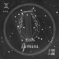 Night Sky Gemini Framed Print