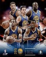 Golden State Warriors 2015-16 Team Composite Fine Art Print