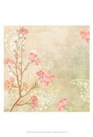 Sweet Cherry Blossoms I Framed Print