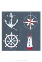 Nautical Quadrant I Framed Print