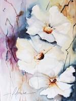 Blooms Aquas I Framed Print