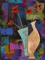 Abstract Expressionist Flowers I Fine Art Print