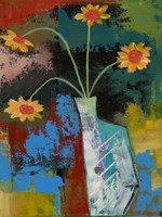 Abstract Expressionist Flowers III Fine Art Print