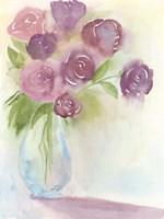 Glowing Bouquet II Framed Print