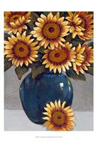 Vase of Sunflowers I Fine Art Print