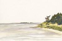 Solitary Coastline I Framed Print