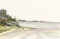 Solitary Coastline II Framed Print