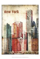 New York Grunge III Framed Print