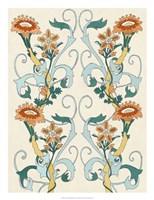 Nouveau Floral Pattern II Framed Print