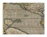 Antique World Map Grid IV Fine Art Print