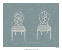 Hepplewhite Chairs I Framed Print