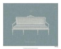 Hepplewhite Sofas II Framed Print