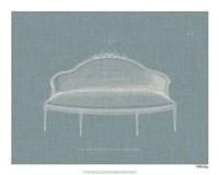 Hepplewhite Sofas III Framed Print