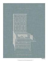 Hepplewhite Desk & Bookcase I Framed Print