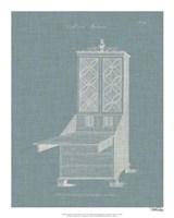 Hepplewhite Desk & Bookcase II Framed Print