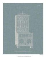 Hepplewhite Desk & Bookcase III Framed Print