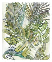 Layered Palms II Framed Print