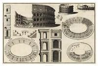 Diagram of the Colosseum Fine Art Print