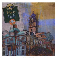 Trinity Trails - Ft. Worth Framed Print