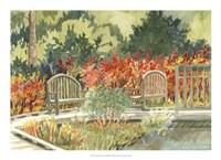 Aquarelle Garden I Framed Print