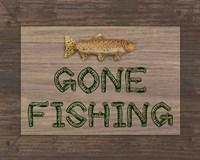 Gone Fishing Sign Framed Print