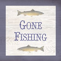 Gone Fishing Salmon Fine Art Print